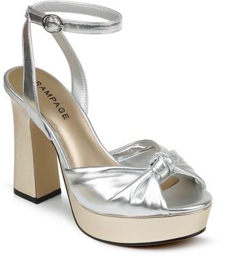 Rampage Dayna Peep Toe Block Heel Sandal