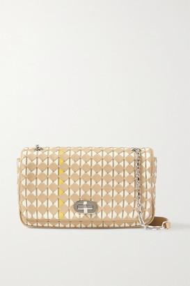 SERAPIAN Woven Leather Shoulder Bag - Beige