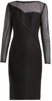 Roland Mouret Magnolia Silk-blend Jacquard Dress - Womens - Black
