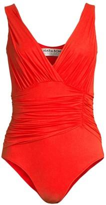 Chiara Boni Zurita One-Piece Ruched Swimsuit