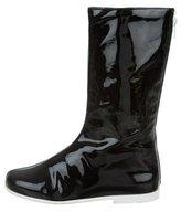 Courreges Patent Mid-Calf Boots