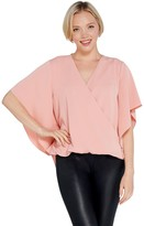 Lisa Rinna Collection Cross Over V-Neck Blouse