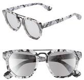 BP Women's 52Mm Double Bridge Sunglasses - Marble/ Black
