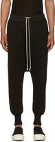 Rick Owens Black Fleece Prisoner Drawstring Lounge Pants