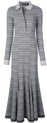 Y/Project long striped polo-neck dress