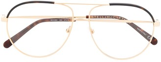 Stella Mccartney Eyewear Two-Toned Aviator Glasses