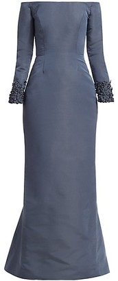 Catherine Regehr Oriel Off-The Shoulder Embellished Cuff Gown