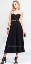 Alyce Paris Wide Leg Belted Strappy Back Jumpsuit
