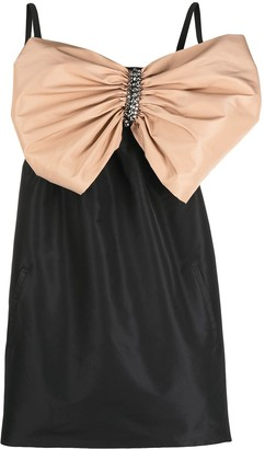 No.21 Bow-Detail Mini Dress