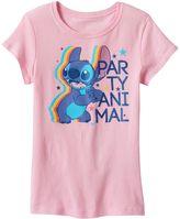 "Disney Disney's Stitch Girls 7-16 ""Party Animal"" Graphic Tee"