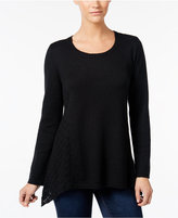 Style&Co. Style & Co. Crochet-Detail Sweater, Only at Macy's