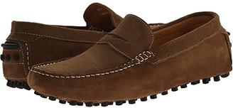 Massimo Matteo Suede Nubuck Penny (Castor) Men's Slip on Shoes