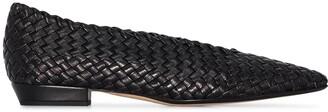 Bottega Veneta Intrecciato almond-toe ballerina shoes