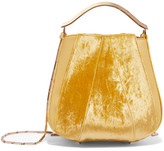 Eddie Borgo Pepper Velvet And Leather Bucket Bag - Yellow