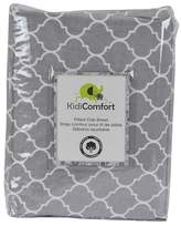Kidiway 1643 kidicomfort Fitted Sheets - 100% Cotton - Grey Quattrofoil