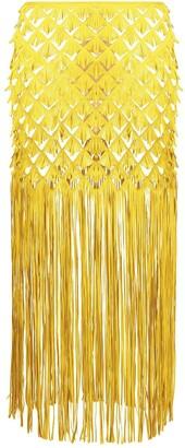 PASKAL clothes Fringe Midi Skirt