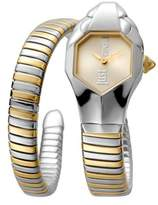 Just Cavalli Womens Stainless Steel/gold Watch With Champagne Dial.