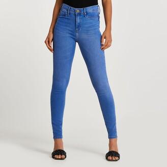 River Island Womens Blue Molly bum sculpt jeans