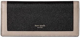 Kate Spade Margaux Bifold Continental Wallet (Black/Warm Taupe) Checkbook Wallet