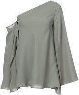 C/Meo asymmetric cold shoulder blouse