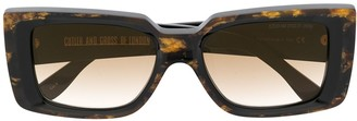 Cutler & Gross Marbled Effect Sunglasses