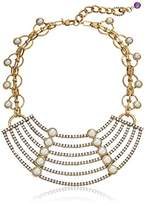 "m. haskell Purple by Garden Party"" Faux-Pearl Multi-Row Statement Necklace, 16"""