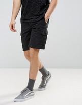Pull&bear Cargo Shorts In Black