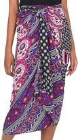 Purple Elephant Batik Sarong Hand Dyed in Indonesia, 'Elephant Dream'