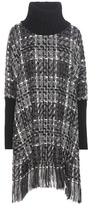 Dolce & Gabbana Wool, cashmere and cotton-blend poncho