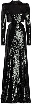 A.L.C. Gabriela Sequin Cut-Out Gown