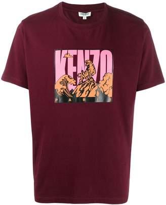 Kenzo Tiger Mountain logo printed T-shirt