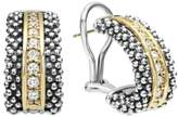 Lagos 'Caviar' Diamond Hoop Earrings