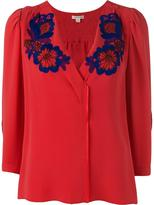 Marc Jacobs embroidered flower blouse - women - Silk/Cotton - 10