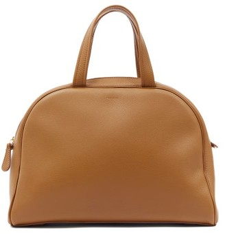 The Row Grained-leather Bowling Bag - Khaki