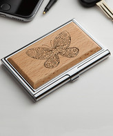 Personalized Planet Card Holders - Butterfly Wood Business Card Holder