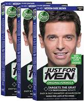 Just For Men Original Formula Men's Hair Color, Medium Dark Brown (Pack of 3)