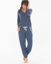 Soma Intimates Cozy Lounge Pullover Set Navy Heather