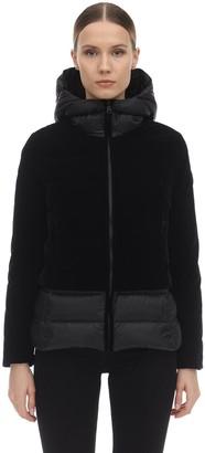 Colmar Originals Velour & Nylon Down Jacket