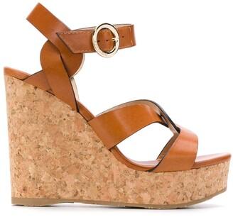 Jimmy Choo Aleili 120 wedge sandals