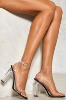 Nasty Gal Let's Be Clear Heel