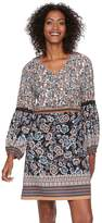 MSK Women's Floral Crochet Trim Shift Dress