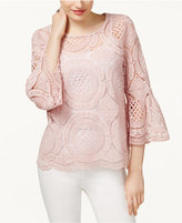 INC International Concepts Lace Sweater, Only at Macy's