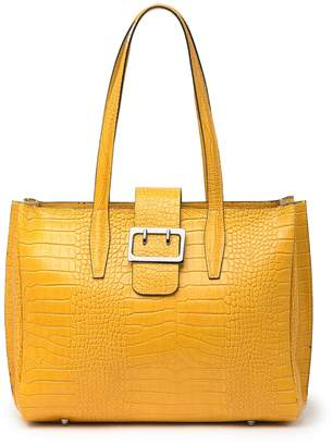 Persaman New York Annahi Croc-Embossed Leather Tote Bag
