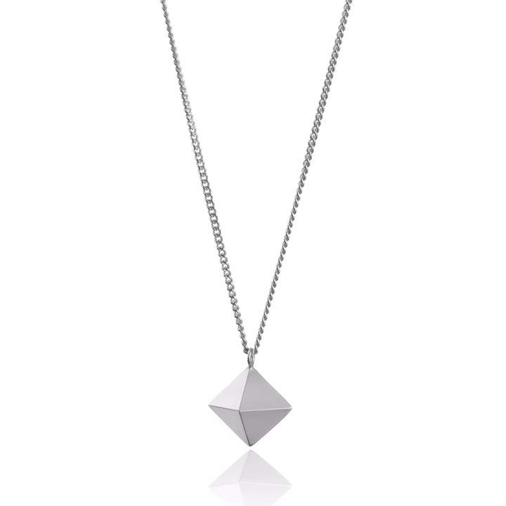 Myia Bonner Large Silver Ocahedron Necklace