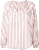 Closed striped V-neck blouse - women - Cotton - XS
