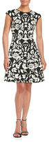 Vince Camuto Patterned Fit and Flare Dress