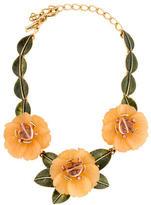 Oscar de la Renta Floral Collar Necklace