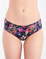 Panache Floris mesh and jersey bikini briefs