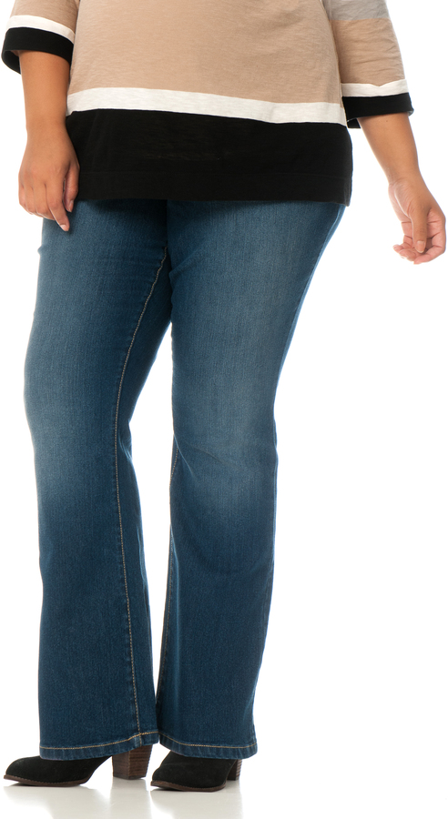 Motherhood Plus Size Petite Secret Fit Belly Maternity Jeans