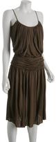 sandalwood jersey knit rayon Grecian tunic dress